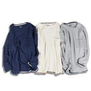 Tシャツ 長袖 メンズ ブランド パイルスウェット カットオフ FEEL GOOD pile sweat cutoff 3カラー feel so easy LP-001|blueism-y