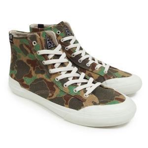 スケートシューズ メンズ ブランド HUF ハフ スニーカー シューズ スケシュー ハイカット 靴 CLASSIC HI DUCK CAMO OOO|blueism-y