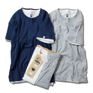 Tシャツ メンズ 半袖 ブランド 2枚セット レディース 半袖Tシャツ セット 重ね着 無地 サーフ feel so easy WEST SHORE|blueism-y