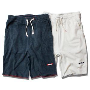 ショートパンツ メンズ ルームウェア ブランド オーガニックコットン パイル パンツ ショーツ リラックス 半ズボン 部屋着 無地|blueism-y