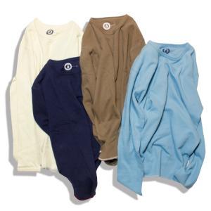 Tシャツ 長袖 メンズ ブランド オーガニックコットン サーマルクルー Organic Cotton Ecology Standard ripple crew 4カラー OR-001|blueism-y