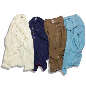 Tシャツ 長袖 メンズ ブランド オーガニックコットン ヘンリーネック サーマル OR-002|blueism-y