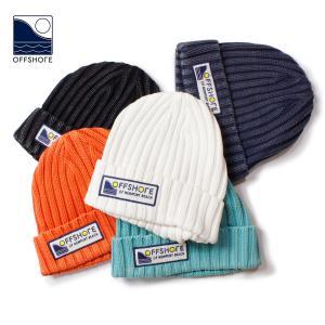 ニット帽 メンズ ブランド おしゃれ レディース メンズニット帽 ニットキャップ 帽子 ロゴ サーフ サーフブランド OFFSHORE オフショア|blueism-y