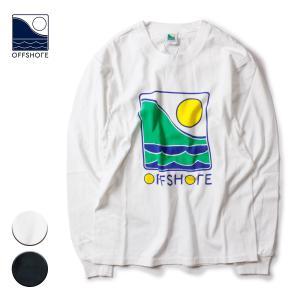 Tシャツ メンズ ブランド おしゃれ 長袖 レディース ロンT ブランドロゴ 20代 30代 サーフ サーフブランド OFFSHORE オフショア|blueism-y