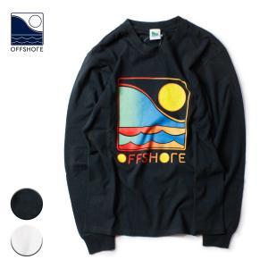 Tシャツ メンズ ブランド おしゃれ 長袖 レディース ロンT グラデーション 20代 30代 サーフ サーフブランド OFFSHORE オフショア|blueism-y