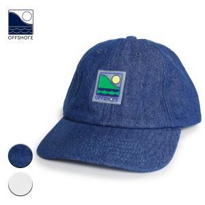 帽子 キャップ メンズ ブランド オフショア レディース おしゃれ 海外 デニムキャップ ローキャップ 浅め ロゴ サーフ サーフキャップ 白|blueism-y