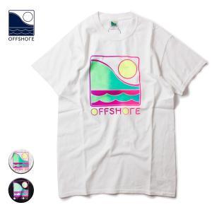Tシャツ メンズ ブランド 半袖 おしゃれ レディース オフショア ロゴ グラデーション サーフ サーフブランド 20代 30代 40代 白 黒|blueism-y