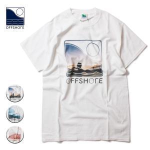 Tシャツ メンズ ブランド 半袖 おしゃれ レディース オフショア フォトT 写真 サーフ サーフブランド 20代 30代 40代 白|blueism-y
