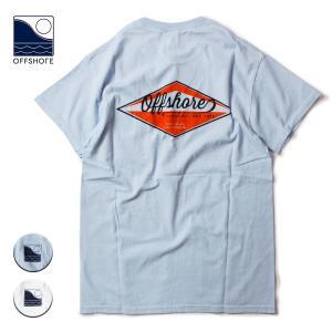 Tシャツ メンズ ブランド 半袖 おしゃれ レディース オフショア ポケット ポケT ロゴ エンブレム バックプリント サーフ 20代 30代 40代|blueism-y