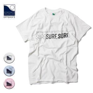 Tシャツ メンズ ブランド 半袖 おしゃれ レディース オフショア メッセージ プリント 文字 サーフ サーフブランド 20代 30代 40代 白|blueism-y