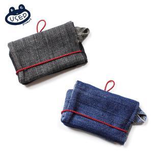財布 メンズ コンパクト ブランド 三つ折り デニム アウトドア 3つ折り 小銭入れ コインケース デニム財布 三つ折り財布 ウォレット ヴィンテージ|blueism-y