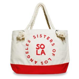 トートバッグ キャンパス ブランド レデイース メンズ 大きめ おしゃれ レッド SoLA ソラ Sisters of Losangeles シスターズオブロサンゼルス|blueism-y