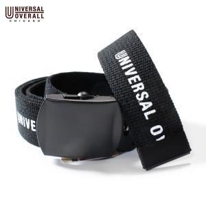 ベルト ガチャベルト ブランド メンズ レディース ブラック ユニバーサルオーバーオール カジュアル 日本製 穴なしベルト UV0878I|blueism-y