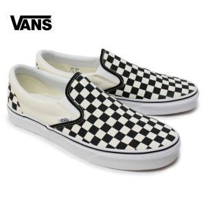 バンズ VANS スリッポン Classic Slip On Black and White Checker/White チェッカー スニーカー クラシック vn-0eyebww チェック ローカット 正規 OOO|blueism-y