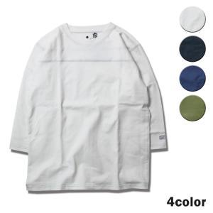 Tシャツ メンズ 七分袖 ブランド レディース フットボールTシャツ ラグラン 半袖Tシャツ サーフ feel so easy WEST SHORE|blueism-y