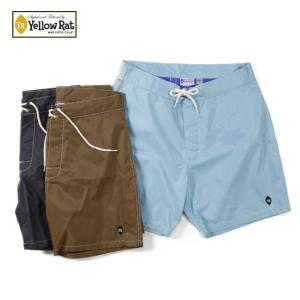 ショートパンツ メンズ ブランド 短め YellowRat アメリカ製 ショーツ ボードショーツ ハーフパンツ ナイロン 無地 サーフ アメカジ blueism-y