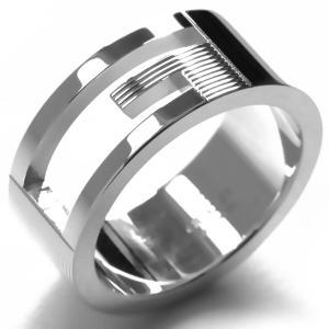 グッチ リング指輪 ブランテッド カットアウトG シルバー 032660 09840 8106 ボーイズ|bluek