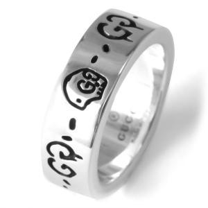 グッチ リング指輪 ゴースト GHOST シルバー 477339 J8400 0701 ユニセックス|bluek