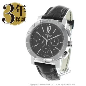 2b9d81952f11 ブルガリ ブルガリブルガリ クロノグラフ アリゲーターレザー 腕時計 メンズ BVLGARI BB42BSLDCH_8
