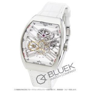 bc9f9644a3 フランクミュラー ヴァンガード 7デイズ パワーリザーブ スケルトン クロコレザー 腕時計 メンズ FRANCK MULLER V45 S6 SQT  AC BC