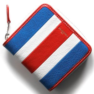 ddc1f897c665 バレンシアガ 二つ折り財布 財布 レディース バザール ブルー&ブランホワイト&ルージュレッド 443657 DE9CN 4360 BALENCIAGA