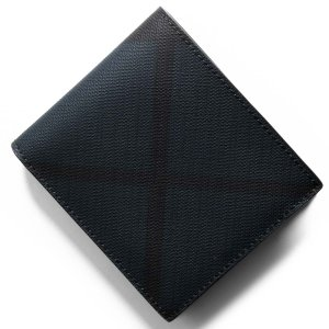 0afadad5bffd バーバリー 二つ折り財布 財布 メンズ シーシービル ロンドンチェック ネイビー&ブラック 8006029 A1960 BURBERRY