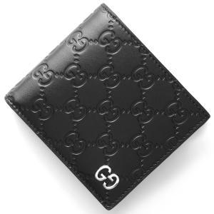 グッチ 二つ折財布 ドリアン GGシグネチャー DORIAN GG SIGNATURE ブラック 473922 CWC1N 1000 メンズ|bluek