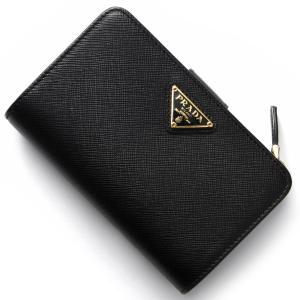 プラダ 二つ折り財布 サフィアーノ トライアングル SAFFIANO TRIANG 三角ロゴプレート ブラック 1ML225 QHH F0002 レディース