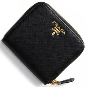 プラダ 二つ折財布 サフィアーノ メタル SAFFIANO METAL ブラック 1ML522 QWA F0002 レディース|bluek