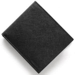 プラダ 二つ折り財布 SAFFIANO ブラック 2MO73...