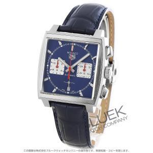 タグホイヤー モナコ クロノグラフ アリゲーターレザー 腕時計 メンズ TAG Heuer CBL2...