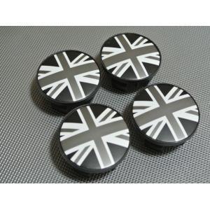 BMW MINI ミニ ホイールセンターキャップ 4Pset ブラックジャック R50 R55 R56 R57 英国国旗 ミニクーパー ブラックユニオンジャック