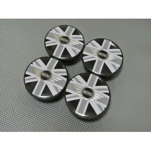 BMW MINI ミニ ホイールセンターキャップ 4Pset ブラックジャック R50 R55 R56 R57 英国国旗 ミニクーパー ブラックユニオンジャック ウィング