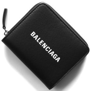 バレンシアガ 二つ折り財布 財布 レディース エブリディ ビルフォールド ブラック 551933 D...