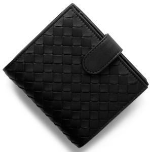 ボッテガヴェネタの【イントレチャート/INTRECCIATO】ブラックカラー二つ折財布です。ボッテガ...