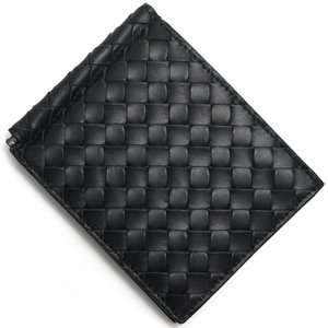 ボッテガヴェネタ 二つ折り財布札入れ イントレチャート INTRECCIATO ブラック 123180 V4651 1000 メンズ