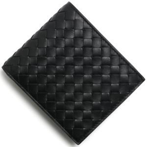 ボッテガヴェネタ 二つ折り財布 イントレチャート INTRECCIATO ブラック 193642 V...