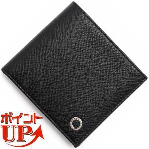 ブルガリ 二つ折り財布 財布 メンズ ブルガリブルガリ マン レザー ブラック 30396 BVLG...