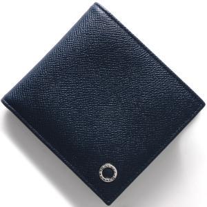 ブルガリ 二つ折り財布 財布 メンズ ブルガリブルガリ マン デニムサファイア 39324 BVLG...