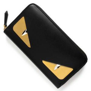 フェンディの【モンスター/MONSTER】長財布です。シックなブラック【BLACK】カーフレザーを全...