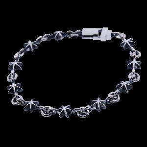 シルバー ブレスレット メンズ 925 チェーンブレスレット 星 グラスプスター Blula ブルレ 男性用|bluelace