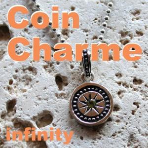 シルバーアクセサリー チャーム 誕生石 コイン INFINITY Blula ブルレ 刻印可 チョーカー シルバー925 メンズ 男性用|bluelace