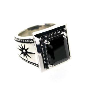 シルバーリング 指輪 刻印 ブラックキュービックリング INFINITY RING Blula ブルレ|bluelace