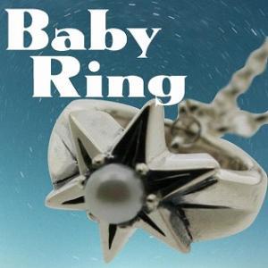 ベビーリング 刻印 指輪 出産祝い パール 真珠 6月 誕生石 星 STAR 七五三 ギフト|bluelace