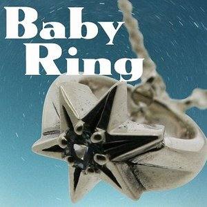 ベビーリング 刻印 指輪 出産祝い アクアマリン 3月 誕生石 星 STAR 七五三 ギフト|bluelace