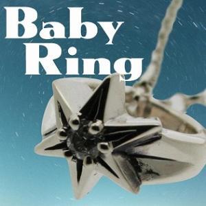 ベビーリング 刻印 指輪 出産祝い ダイヤモンド 4月 誕生石 星 STAR 七五三 ギフト|bluelace