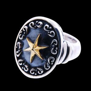 星 シルバーリング 指輪 刻印 アラベスク|bluelace