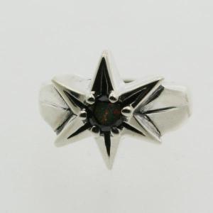 ピンキーリング シルバー 指輪 刻印  1月 誕生石 ガーネット STAR 星 1号 3号|bluelace