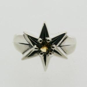 ピンキーリング シルバー 指輪 刻印  11月 誕生石 シトリン STAR 星 1号 3号|bluelace