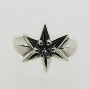 ピンキーリング 誕生石 シルバー 指輪 刻印  3月 誕生石 アクアマリン STAR 星 1号 3号|bluelace